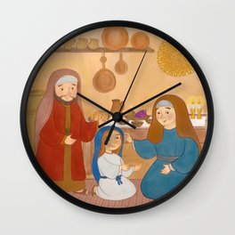 Preparing the Shabbat Wall Clock