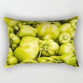 Lots of green peppers Rectangular Pillow