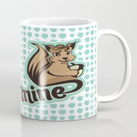 squirrel Mugs featuring Squirrel by VessDSign