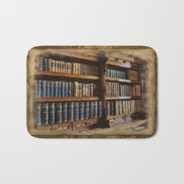 Knowledge - Antique Books on History & Law Bath Mat