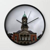 dublin Wall Clocks featuring Dublin Castel by Chalene Malekoff