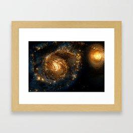 Starry Galaxy Night Framed Art Print