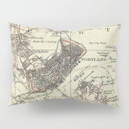 Vintage Map of Portland Maine (1914) Pillow Sham