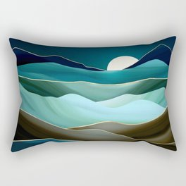 Moonlit Vista Rectangular Pillow