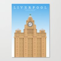 liverpool Canvas Prints featuring Liverpool by East Atlantic Design