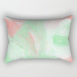 Coral Mint Abstract Rectangular Pillow