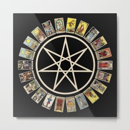 Fairy Star & Tarot Circle Metal Print