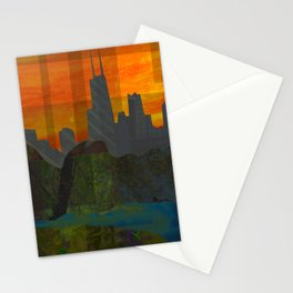 Sunset City (Chicago) Stationery Cards