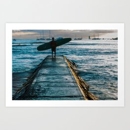 Waikiki Surf Art Print