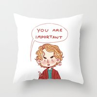 enjolras Throw Pillows featuring Enjolras Reminder by Antisepticbandaid