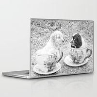 puppies Laptop & iPad Skins featuring Teacup Puppies. by ShabbyChic fine art photography