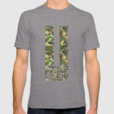 PAUSE – Camo Tri-Grey Mens Fitted Tee X-LARGE