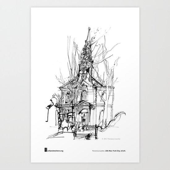 "Veronica Lawlor, ""St. Paul's Chapel"" Art Print"