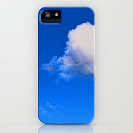 """""""Clouds #57"""" with poem: God's Pillows iPhone Case"""