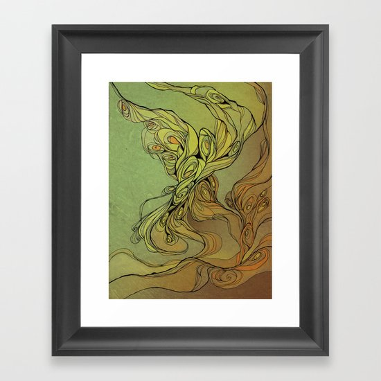 abstract floral composition Framed Art Print