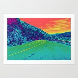 Techno Trail Art Print