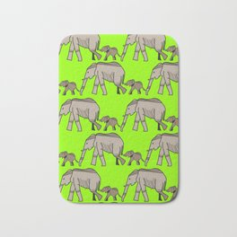 The elephants walk in two by two. Hurray! Hurray! Bath Mat