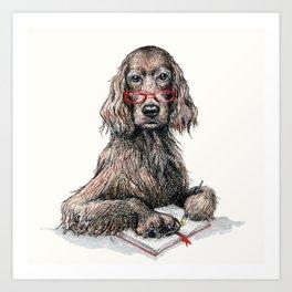 Portrait of A Writer Art Print