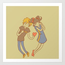 ahhhh romance Art Print