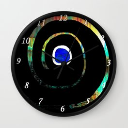Spiral color Wall Clock