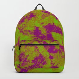 Green - Purple Abstract Texture 2 Backpack