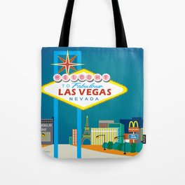 Las Vegas, Nevada - Skyline Illustration by Loose Petals Tote Bag