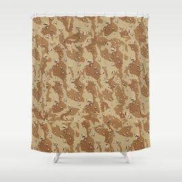 Desert Camouflage Shower Curtain