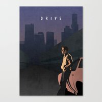 drive Canvas Prints featuring DRIVE by Oliver Shilling