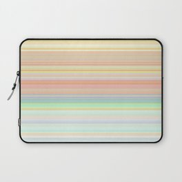 Soft Coral Aqua Hue Stripes Laptop Sleeve