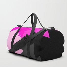 pink gray and black abstract Duffle Bag
