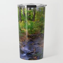 Nature Walk Beautiful Stream in the Forest Travel Mug