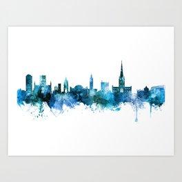 Norwich England Skyline Art Print