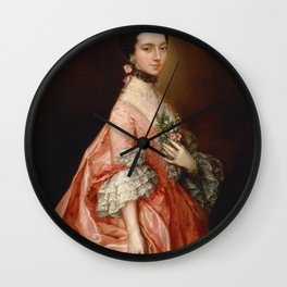 "Thomas Gainsborough ""Mary Little, Later Lady Carr"" Wall Clock"