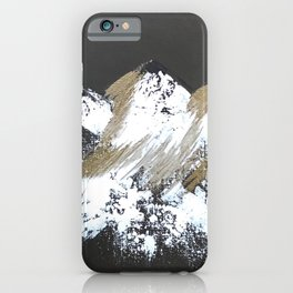 Gold Mountains iPhone Case