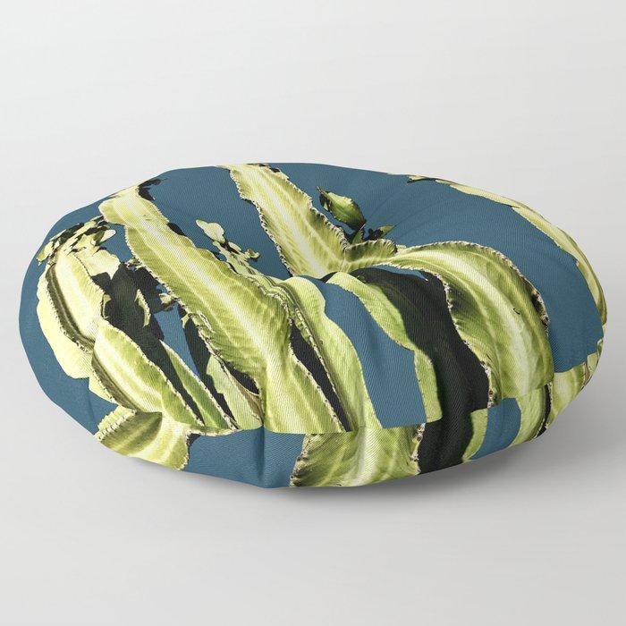 Cactus - blue Floor Pillow