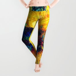 Sunflower Batik Leggings