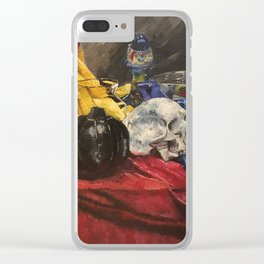 Skull still life 2 Clear iPhone Case