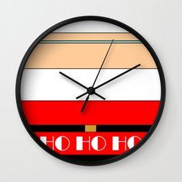 Minimalist Santa Wall Clock