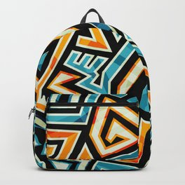 Psychedelic Abstract Colorful Urban Skate Graffiti Backpack