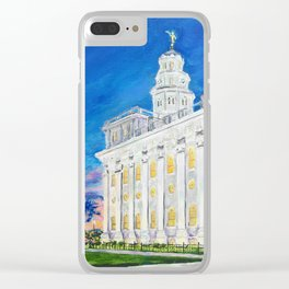 Nauvoo Illinois LDS Temple Clear iPhone Case