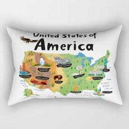 Map of USA Rectangular Pillow