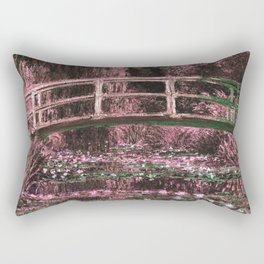 Monet The Lily Pond Muted Pink Rectangular Pillow