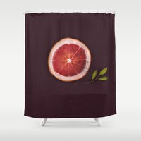 fruits Shower Curtains featuring Fruits by Oilikki