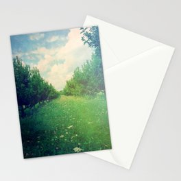 Apple Orchard in Spring Stationery Cards
