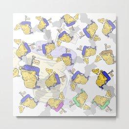 Cream & Paper Cups ! Das ist Gut ! Metal Print