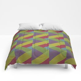 Ribbon Geometry Comforters