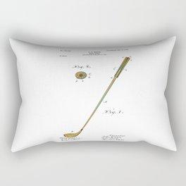 Golf Club Patent - Circa 1903 Rectangular Pillow