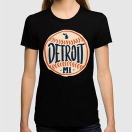 Detroit Michigan Hand Drawn Script Design T-shirt