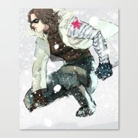 the winter soldier Canvas Prints featuring winter soldier by MacheteJo