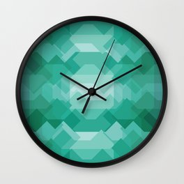 Emerald gem stone Wall Clock